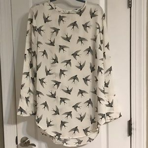 H&M Blouse with Birds